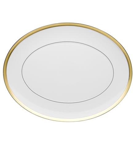 Fuente Oval Grande Domo Gold Vista Alegre