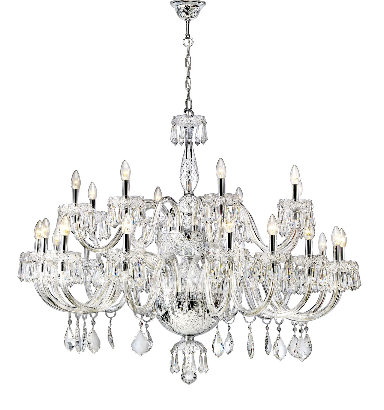 Chandelier with 2 levels and 24 arms diamond vista alegre arubaitofo Images