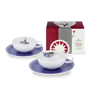 Tea With Alice - Conjunto 2 Tazas Té c/ Platillo e Embala
