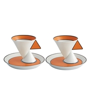 Jazz - Set 2 Coffee Cups and Saucers