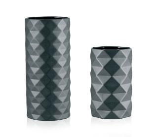 Small Vase Origami Black