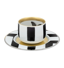 Sol y Sombra - Coffee cup with Saucer Butterfly