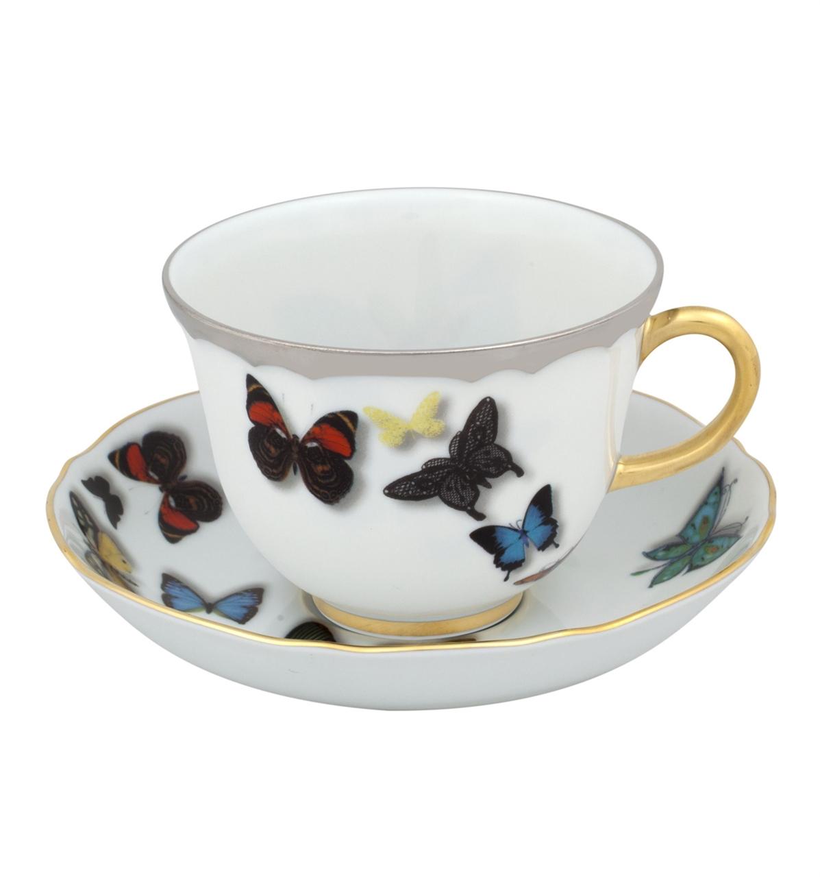 Taza t c platillo butterfly parade vista alegre for Tazas de te inglesas