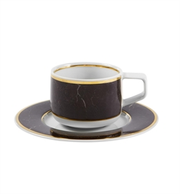 Carrara - Coffee Cup & Saucer