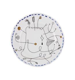 Folkifunki - Dessert Plate Blue
