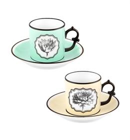 Herbariae - Juego 2 Tazas Café con Platillo Yellow y
